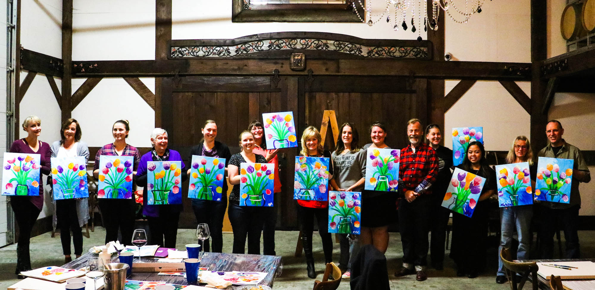 Seaside Pearl's first Paint Night a success!