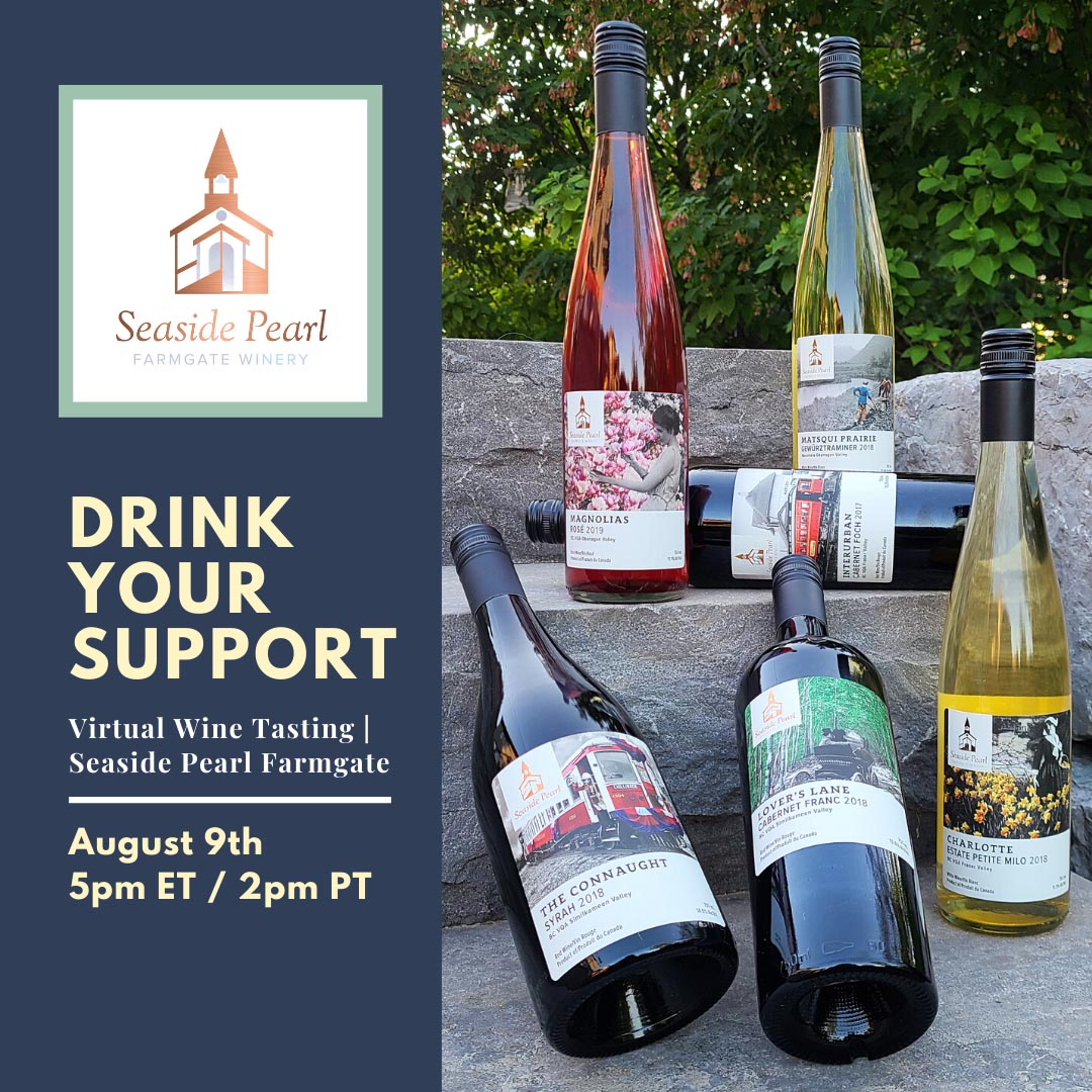 Drink Your Support: a Virtual Tasting Event with Seaside Pearl Winery